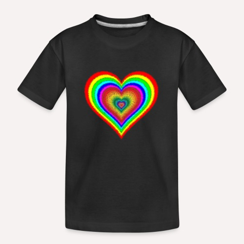Heart In Hearts Print Design on T-shirt Apparel - Teenager Premium Organic T-Shirt