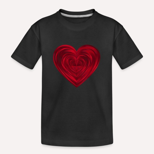 Love Heart Print T-shirt design - Teenager Premium Organic T-Shirt