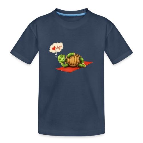 Love-Yoga Turtle - Teenager Premium Bio T-Shirt