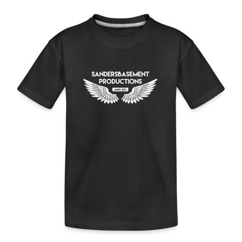 T SHIRT logo wit png png - Teenager premium biologisch T-shirt
