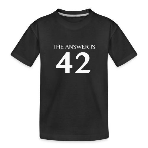 The Answer is 42 White - Teenager Premium Organic T-Shirt