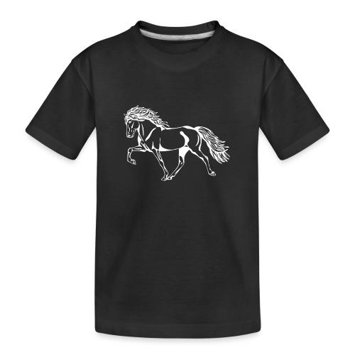 Weißer Tölter - Teenager Premium Bio T-Shirt