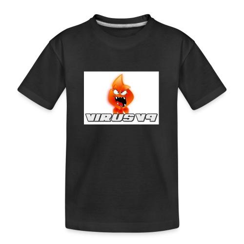 Virusv9 Weiss - Teenager Premium Bio T-Shirt