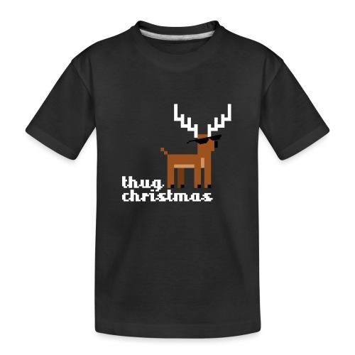 Christmas Xmas Deer Pixel Funny - Teenager Premium Organic T-Shirt