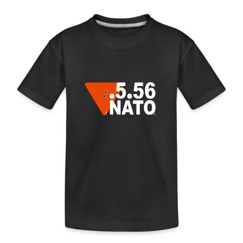 .5.56 NATO BLANC - T-shirt bio Premium Ado