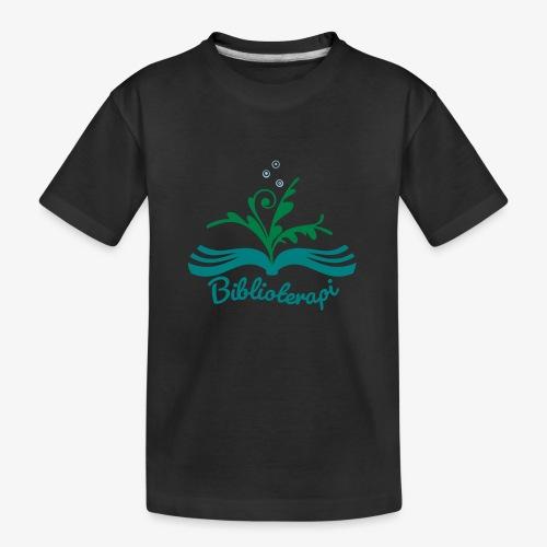 Biblioterapi - börja så! - Ekologisk premium-T-shirt tonåring