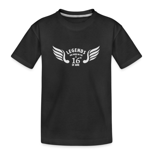 Legends are born on the 16th of june - Teenager premium biologisch T-shirt