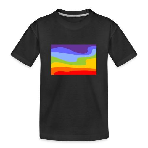 Hintergrund Regenbogen Fluss - Teenager Premium Bio T-Shirt