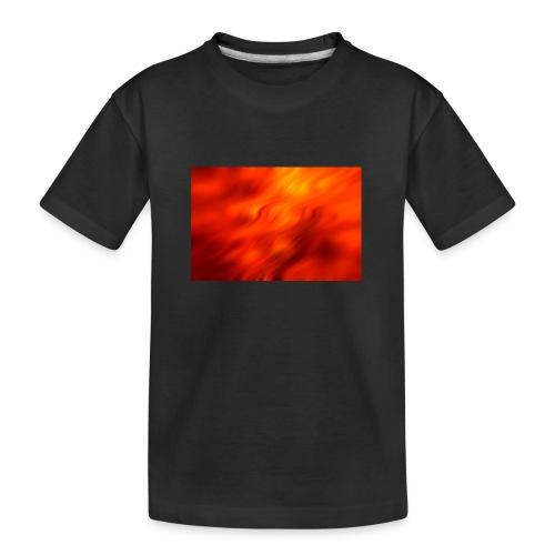 Hintergrund Wellen rot - Teenager Premium Bio T-Shirt