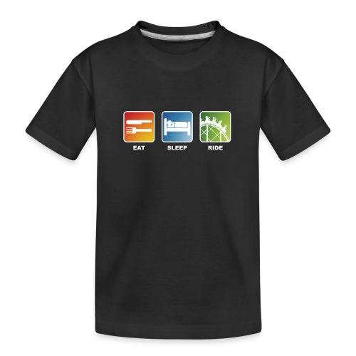 Eat, Sleep, Ride! - T-Shirt Schwarz - Teenager Premium Bio T-Shirt