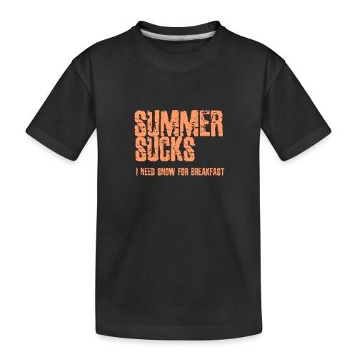 SUMMER SUCKS - Teenager premium biologisch T-shirt