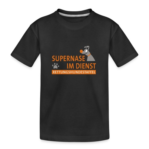 Supernase im Dienst - Teenager Premium Bio T-Shirt