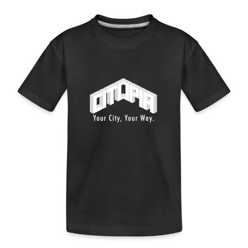 Logo with Slogan - Teenager Premium Organic T-Shirt