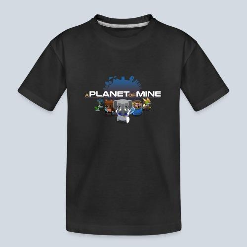 logo planetofmine dark HD - T-shirt bio Premium Ado