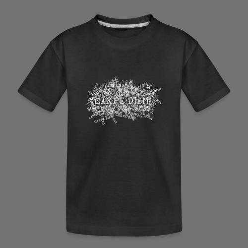 carpe diem (hvid) - Teenager premium T-shirt økologisk