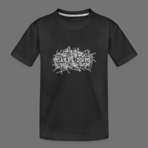 carpe diem (white) - Teenager Premium Organic T-Shirt
