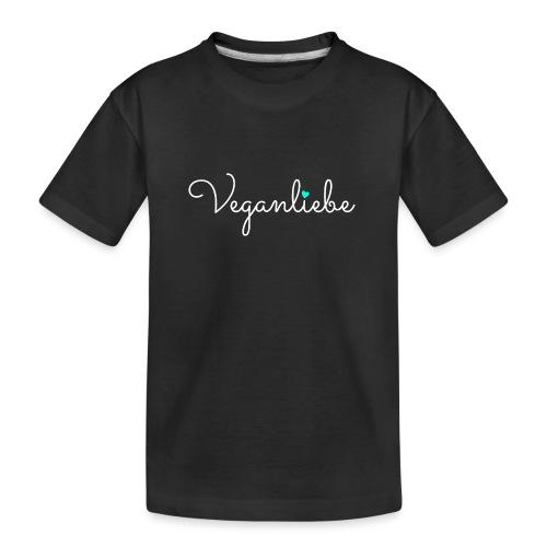 Veganliebe Logo Schriftzug für Veganer - Teenager Premium Bio T-Shirt