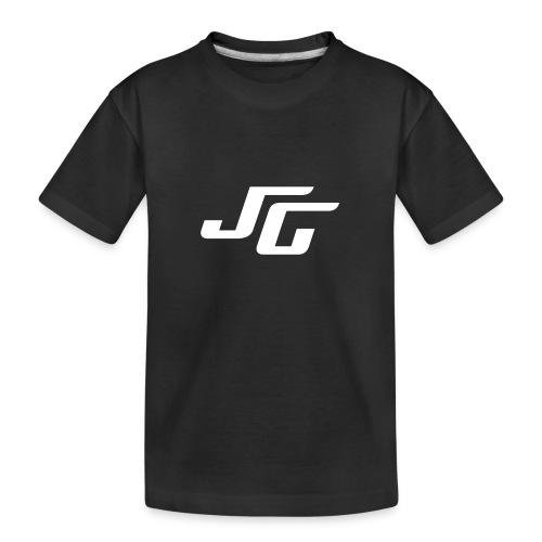 JG Logo weiss - Teenager Premium Bio T-Shirt