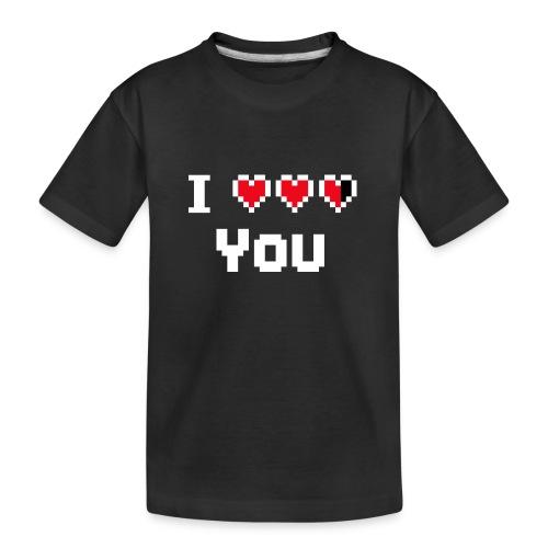 I pixelhearts you - Teenager premium biologisch T-shirt