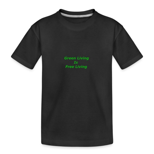 Green Living - Teenager premium T-shirt økologisk