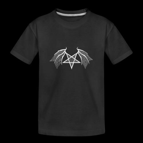flügelpentagrammitstrukturhellgrau.png - Teenager Premium Bio T-Shirt