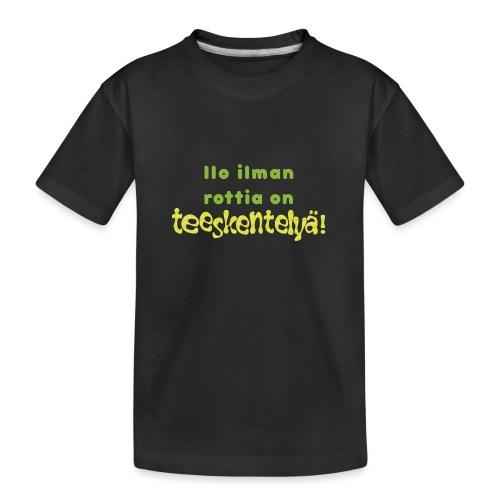 Ilo ilman rottia - vihreä - Teinien premium luomu-t-paita