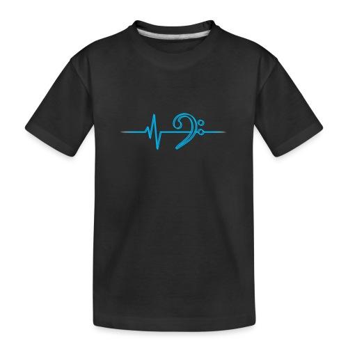 LowHeartBeatDouble cyan - Teenager Premium Bio T-Shirt