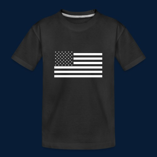 Stars and Stripes White - Teenager Premium Bio T-Shirt