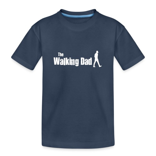 the walking dad white text on black - Teenager Premium Organic T-Shirt