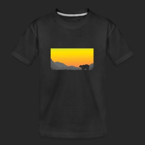 Sunrise Polar Bear - Teenager Premium Organic T-Shirt