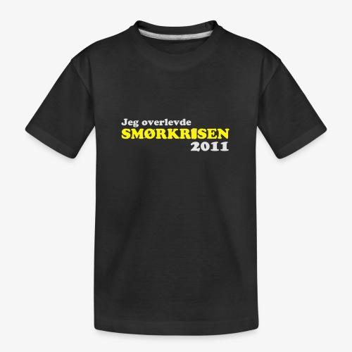 Smørkrise 2011 - Norsk - Premium økologisk T-skjorte for tenåringer