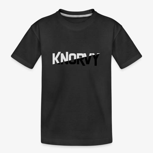 KNORVY - Teenager premium biologisch T-shirt