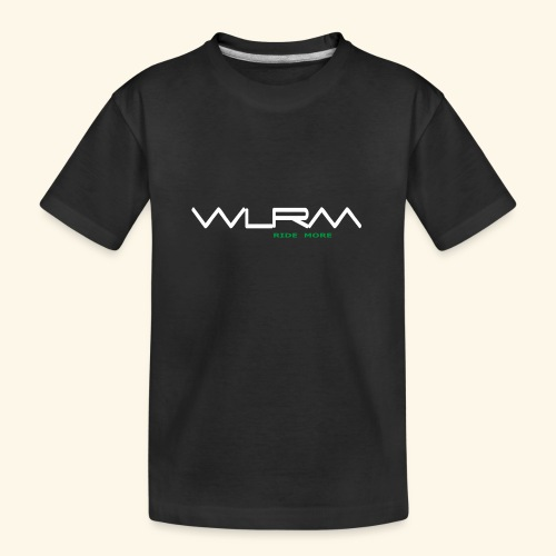 WLRM Schriftzug white png - Teenager Premium Bio T-Shirt