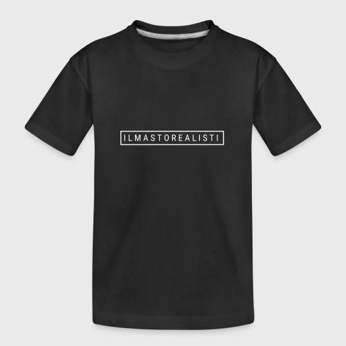 Ilmastorealisti - Teinien premium luomu-t-paita