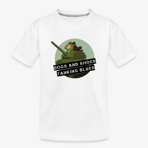 logo dogs nieuw - Teenager premium biologisch T-shirt
