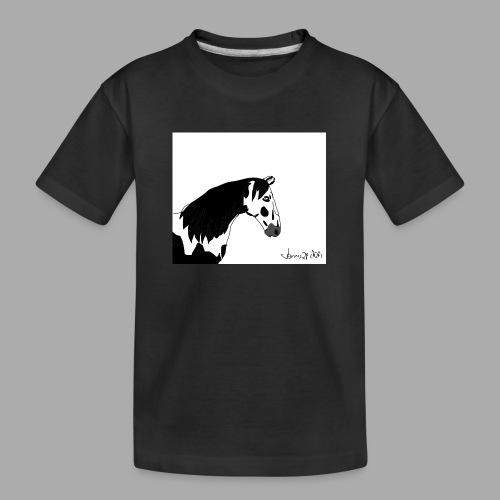 Pferdekopf mit Unterschrift - Teenager Premium Bio T-Shirt
