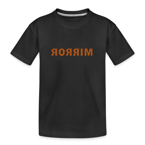 Spiegel, mirror in spiegelbeeld - Teenager premium biologisch T-shirt