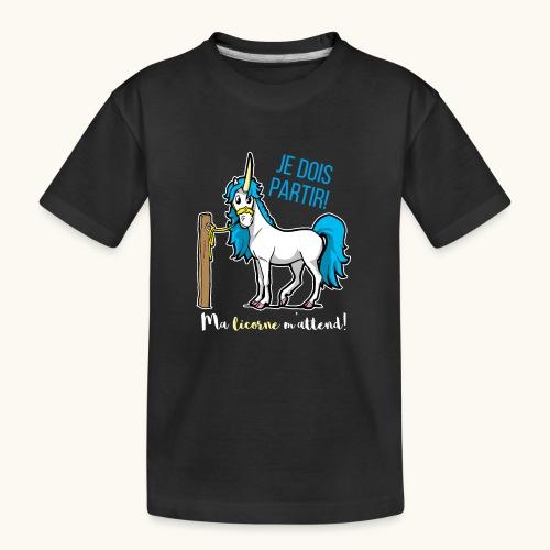 Lustiges Einhorn mit Spruch Französisch Geschenk - T-shirt bio Premium Ado