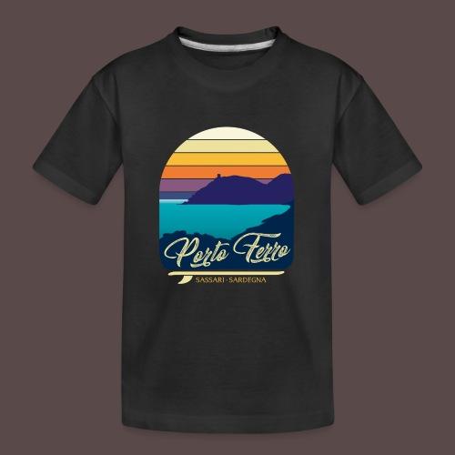 Porto Ferro - Vintage travel sunset - Maglietta ecologica premium per ragazzi