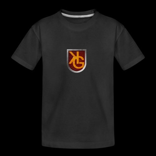 KG logo - Teinien premium luomu-t-paita