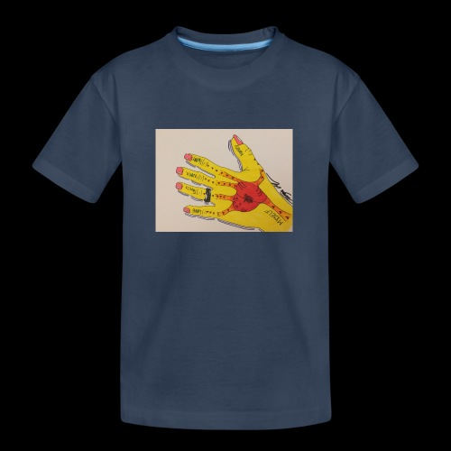 9D8D600F D04D 4BA7 B0EE 60442C72919B - Teenager premium T-shirt økologisk