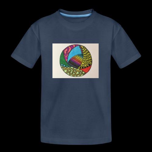 circle corlor - Teenager premium T-shirt økologisk