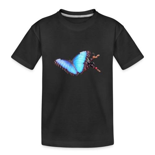 Morpho butterfly - Teenager premium biologisch T-shirt