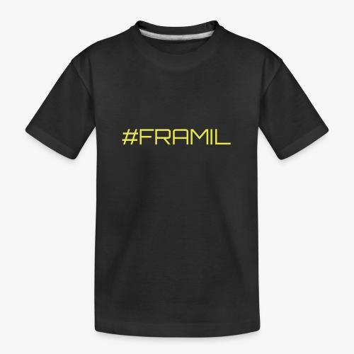 #framil - Teinien premium luomu-t-paita