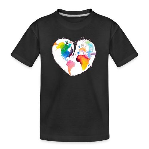 Ich bin als Pfadfinder meines Herzens unterwegs - Teenager Premium Bio T-Shirt