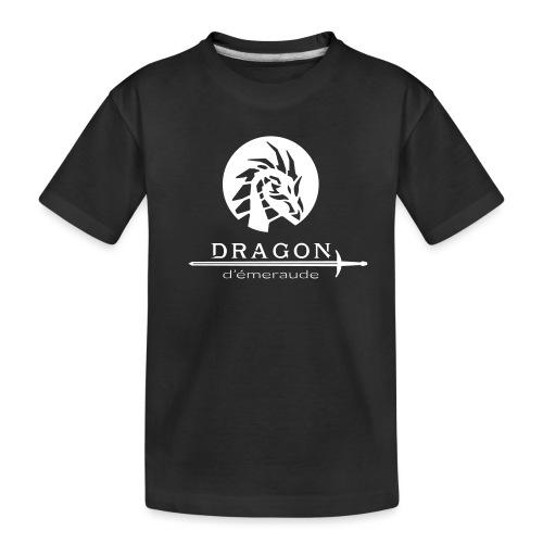 dragon d'émeraude blanc - T-shirt bio Premium Ado