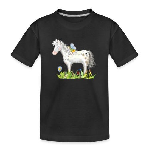 Fee. Das Pferd und die kleine Reiterin. - Teenager Premium Bio T-Shirt