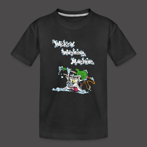Wicked Washing Machine Cartoon and Logo - Teenager premium biologisch T-shirt