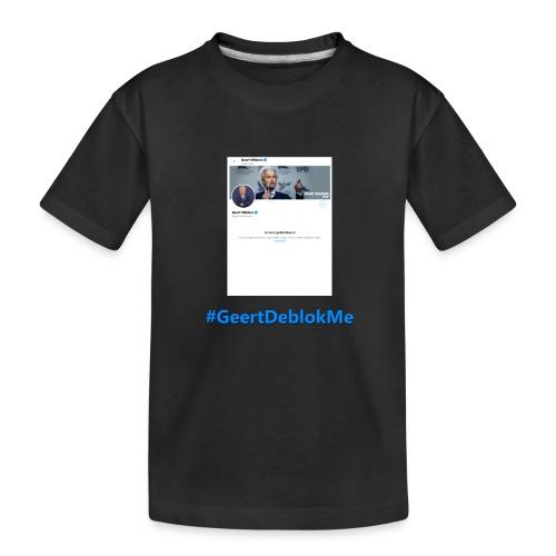 #GeertDeblokMe - Teenager premium biologisch T-shirt