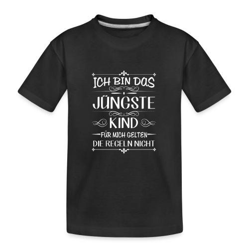 Ich bin das jüngste Kind keine Regeln - Teenager Premium Bio T-Shirt